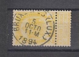 COB 54 Oblitération Centrale BRUXELLES (Lux.) - 1893-1907 Coat Of Arms