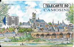 CARTE-PUCE-PRIVEE-PUBLIC- 50U-SC7-06/93--En664-LA CAMOSINE-R° Glacé-UTILISE-TBE-LUXE - Francia
