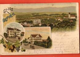 KAH-01 Gruss Aus Oetweil Oetwil Otwil Am See, Litho. Gelaufen In 1899 Briefmarke Fehlt. - ZH Zurich
