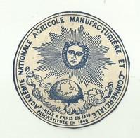 "6160 "" ACADEMIE NATIONALE AGRICOLE MANUFACTURIERE ET COMMERCIALE "" LOGO SU CARTA - Italy"