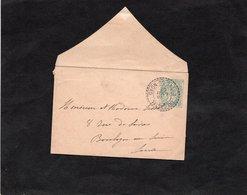 Entier Postale Sur Mignonette - Type Blanc 5c Vert Avec Beau Cachet Perlé - Facteur Boitiers - TREGASTEL (Cotes Du Nord) - Enteros Postales