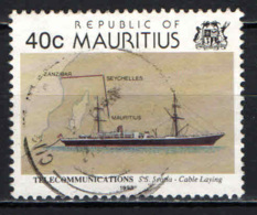 MAURITIUS - 1993 - SS Scotia, Cable Laying - USATO - Mauritius (1968-...)