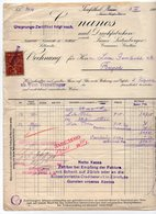 1924 YUGOSLAVIA, AUSTRIA, JOSEFSTHAL, COSMANOS, INVOICE ON A FACTORY LETTERHEAD, 1 FISKAL STAMP - Invoices & Commercial Documents