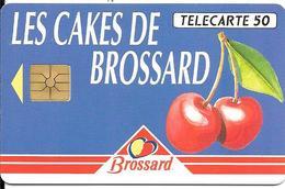 CARTE-PUCE-PRIVEE-PUBLIC- 50U-GEM A-05/93--En648-CAKES BROSSARD-2e Logo-SérieA-R° Glacé-UTILISE-TBE-LUXE - Francia