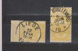 COB 54 Oblitération Centrale LIEGE + Guillemins - 1893-1907 Coat Of Arms