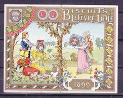CALENDRIER 1899 95*62 Mm PUBLICITE LU NANTES ETAT EXCEPTIONNEL - Nantes