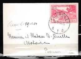 Brief Van Paturages A1A Naar Boussu - Lettres & Documents