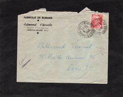 LAC 1949 - Entête  FABRIQUE DE RUBANS - Edmond Cheucle à MONISTROL SUR LOIRE (Haute Loire) - Avec échantillons - 1921-1960: Periodo Moderno