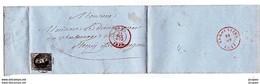 BELG. N° 6 OBL.sur LAC DE MONS 1854 LEOPLD I - 1851-1857 Médaillons (6/8)