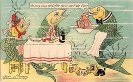 1er Avril 123, Humour Poisson Humanisé Jean De Preissac - 1° Aprile (pesce Di Aprile)