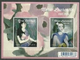 FRANCE MNH ** Feuille F 5111-5112 Marie Laurencin Peintre Art Portrait De La Baronne Gourgaud Petite Fille Guitare - Frankreich