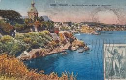 CARTE POSTALE ANCIENNE 83 TOULON LA CORNICHE DE LA MITRE AU MOURILLON EDITIONS / LES BELLES EDITIONS FRANÇAISES N°12060 - Toulon