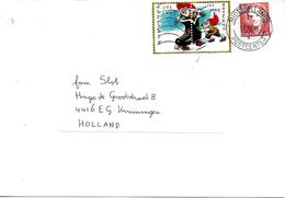 Vignettes Noël Danemark 1995 Sur Lettre Vers Pays Bas - Poststempel