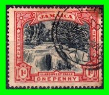 JAMAICA  SELLO AÑO 1901 CASCADAS  DE LLANDOVERY - Jamaica (1962-...)