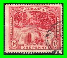JAMAICA  SELLO AÑO 1900 CASCADAS  DE LLANDOVERY - Jamaica (1962-...)