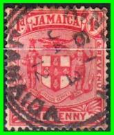 JAMAICA  SELLO AÑO 1905-1907 ESCUDO NACIONAL - Jamaica (1962-...)