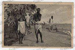 AFRICA ORIENTALE Animata Pesca Pescatore Caccia - Cartoline
