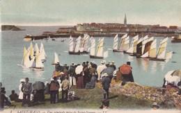 CARTE POSTALE ANCIENNE 35 SAINT MALO VUE GENERALE PRISE DE SAINT SERVAN EDITIONS / LL N° 1 - Saint Malo