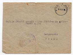 10.10.1945. YUGOSLAVIA, SLOVENIA, RIMSKE TOPLICE TO BANJA LUKA, BOSNIA, MILITARY HOSPITAL, IV ARMY, MILITARY MAIL - 1945-1992 Socialist Federal Republic Of Yugoslavia