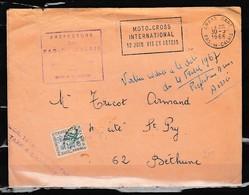 Brief Van Arras Gare Naar Bethune Moto-Cross International Préfecture Du Pas-De-Galais - France