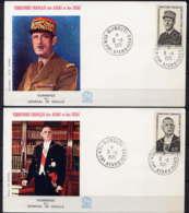 AFARS - FDC375/378 - GENERAL DE GAULLE - Afars Et Issas (1967-1977)
