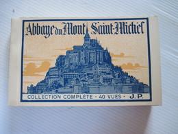 CPA 50 Mont-St-Michel Album De 40 Collection Complète 40 Vues J.P. TBE Photo Séparé Par Une Feuilled'origine - Le Mont Saint Michel
