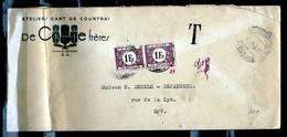 Brief Van Kortrijk Naar Rue De La Lys Ateliers D'Art De Courtrai De Coene - Lettres