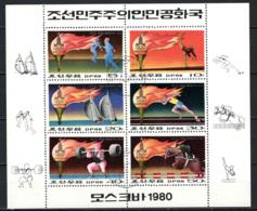 COREA DEL NORD - 1980 - GIOCHI OLIMPICI ESTIVI - FOGLIETTO - SOUVENIR SHEET - USATO - Corea Del Nord