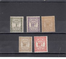 France - 1908-25 - Taxes - N°YT 43**à 48** Sauf 47** - Neuf** - Cote 175€ - Segnatasse