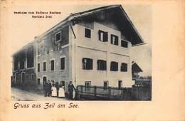 GRUSS Aus ZELL Am SEE AUSTRIA~GASTHAUS Zum BADHAUS BESITZER BARTLM A DIEK~1900s PHOTO POSTCARD 42583 - Zell Am See