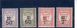 France - 1926 - Taxes - N°YT 51**à 54** - Neuf** - Cote 118€ - Segnatasse