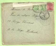 Brief PMB -> La Haye (Holland) Strookje CENSURE MILITAIRE 17 + CENSUUR C.F. (Folkestone)(B8865) - Army: Belgium