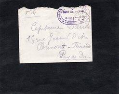 LAC 1918 -  Cachet  HOPITAL AUXILIAIRE N° 197 - Marcophilie (Lettres)