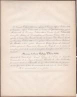 CROIX De FER Bruxelles Comte Philippe VILAIN XIIII Chevalier Lion Néerlandais 79 Ans 1856 De SCHIERVEL De BRIGODE - Décès