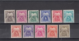France - 1943-46 - Taxes - N°YT 67**à 77** - Neuf** - Segnatasse