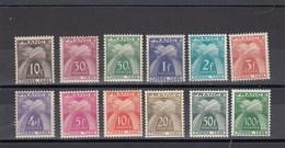 France - 1946-55 - Taxes - N°YT 78**à 89** - Neuf**- Cote 140€ - Segnatasse