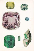 Beryl Stones Hexagonal Crystal Muzo Columbian London Museum Postcard - Postcards