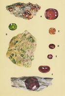 Garnets Cubic Hessonite Spessartine Almandine Pyrope Stones Postcard - Postales
