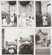 SANNOIS 1934 15  PHOTOS FILLETTE BALANÇOIRE  CHEVAL DE BOIS  POUSSETTE Voiture Ancienne - Lieux