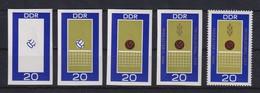 DDR 1969 Kpl. Serie Phasendrucke Mi.-Nr. 1493 Volleyball **  - [6] Democratic Republic