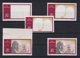 DDR 1970 Kpl. Serie Phasendrucke Mi.-Nr. 1558 Lenin 20 Pfg **  - [6] Democratic Republic