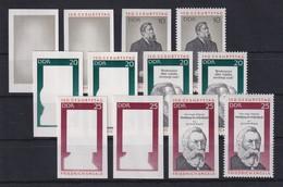 DDR 1970 Kpl. Serie Phasendrucke Mi.-Nr. 1622-24 Friedrich Engels **  - [6] Democratic Republic