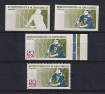 DDR 1968 Kpl. Serie Phasendrucke Mi.-Nr. 1374  WM Im Turnierangeln **  - [6] Democratic Republic