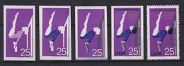 DDR 1968 Kpl. Serie Phasendrucke Mi.-Nr. 1407 Olympische Spiele Turnen **  - [6] Democratic Republic