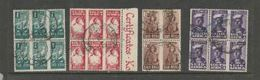 South Africa, 1942, Small War Effort, Blocks Of 2 Complete Units 1/2d, 1d, 1 1/2d, 2d, Used - South Africa (...-1961)
