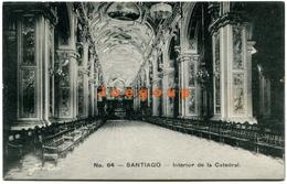 Postal Gallardo Hnos. Foto Leon Interior De La Catedral Santiago Chile - Chile