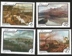 V) 1984 POLAND, PAINTINGS OF VISTULA RIVER VIEWS, VIEW OF WARSAW FROM THE PRAGA BANK BY BERNARDO BELOTTO CANALETTO, MNH - Unused Stamps