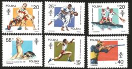 V) 1988 POLAND, SUMMER OLYMPICS, SEOUL, TRIPLE JUMP, WRESTLING, TWO-MAN KAYAK, JUDO, SHOOTING, SWIMMING, SPORTS, MNH - 1944-.... Republic