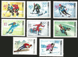 V) 1968 POLAND, 10TH WINTER OLYMPIC GAMES, GRENOBLE, FRANCE, SKIING, SLALOM, SPEED SKATING, LONG-DISTANCE SKIING, MNH - 1944-.... Republic