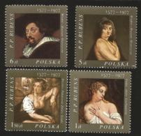V) 1977 POLAND, PAINTINGS BY FLEMISH PAINTER PETER PAUL RUBENS (1577-1640), BATHSHEBA, HELENE FOURMENT, MNH - Unused Stamps